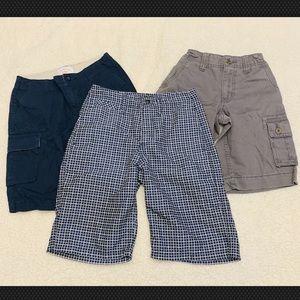 Lot of 3 Boys' Gray Navy Blue Casual Shorts